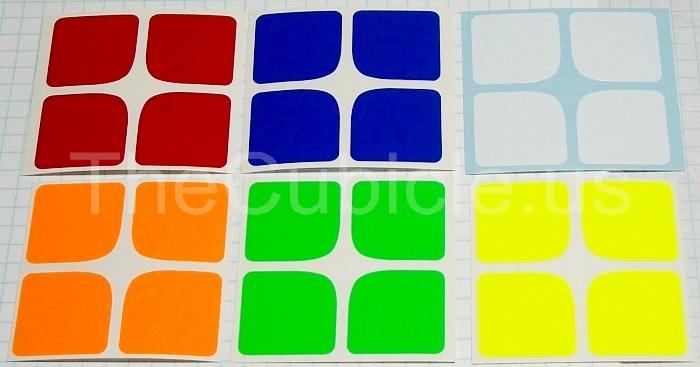 sticker half bright rubik